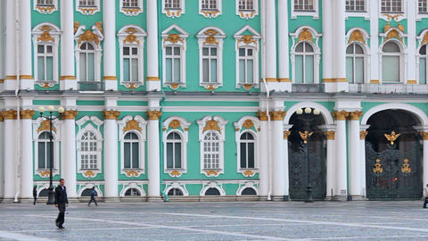 The Lower Part Of The Winter Palace stock footage