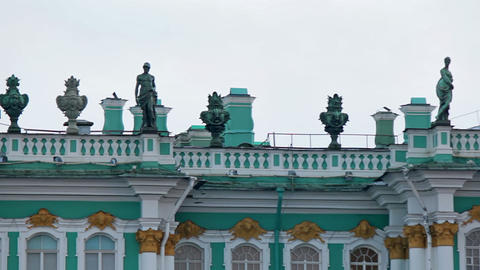 Decorating The Roof Of The Winter Palace, Part 2 stock footage