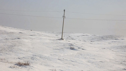 Snow-covered steppe Stock Video Footage