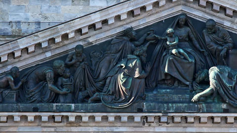 Bas-relief of St. Isaac's Cathedral Footage