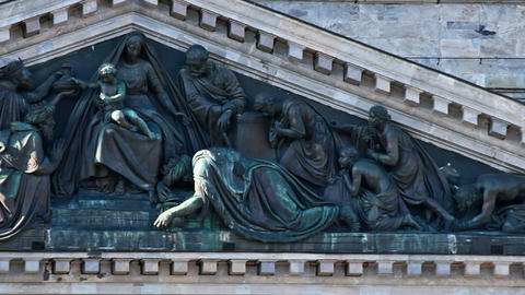 Bas-relief of St. Isaac's Cathedral Stock Video Footage