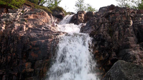 Waterfalls in the Mountains Norway, loop Footage