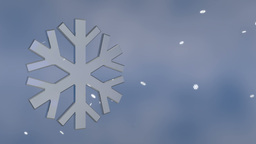 snowflake background Stock Video Footage