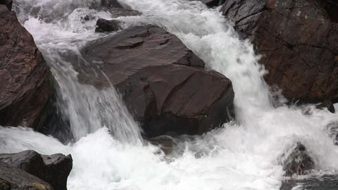 Waterfalls in the Mountains Norway, closeup, loop Footage