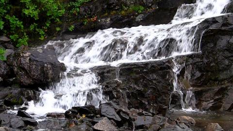 Waterfalls in the Mountains Norway, closeup, loop Footage