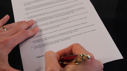 signing contract Stock Video Footage