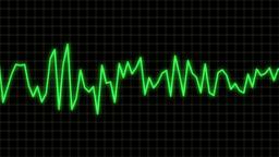 audio wave line blue Stock Video Footage