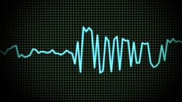 audio wave line Stock Video Footage