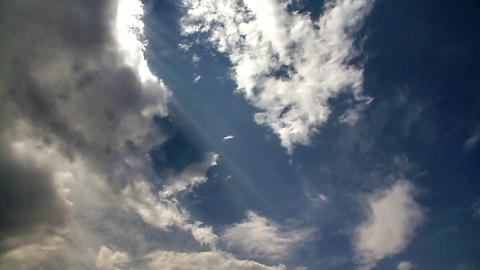 Radiant clouds Stock Video Footage