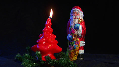 10612 kill santa claus nicolas axe christmas realt Stock Video Footage