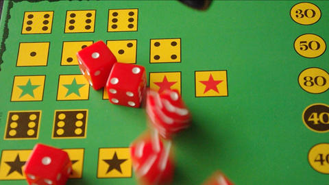 red casino dice and game field Stock Video Footage