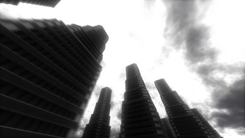 Urban Stroll. Skyscrapers Stock Video Footage
