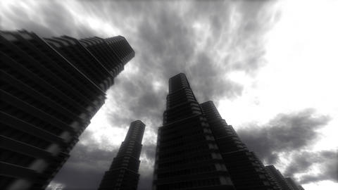 Urban Stroll. Skyscrapers Animation