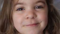 little girl pulling a face Stock Video Footage