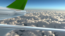 green airplane on sky Stock Video Footage
