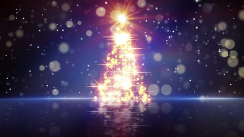 christmas tree shape of glares loopable Animation