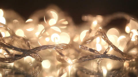 Flashing Christmas Lights Seamless Loop Close-up stock footage