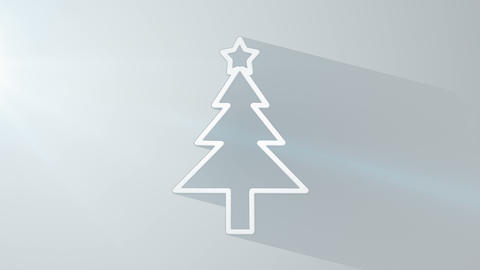 christmas tree shape with long shadows last 10s lo Animation