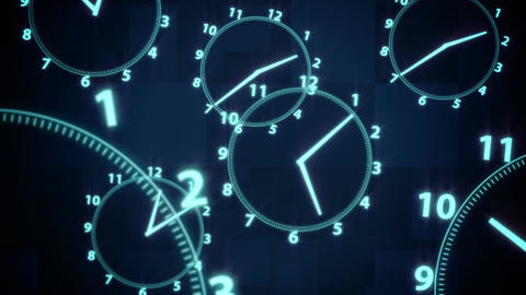 clock time illusion background Animation