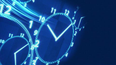 [alt video] clock time illusion background