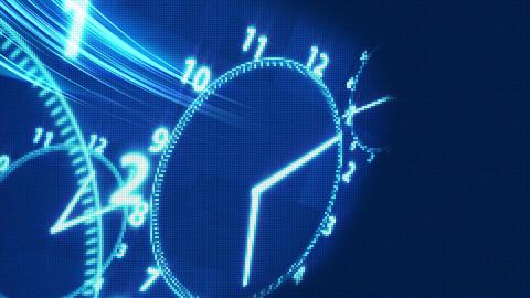clock time illusion background Animation