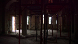 Interior Scaffolding,construction Orthodox Church stock footage