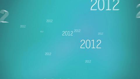 New Year 2015 Blue 애니메이션