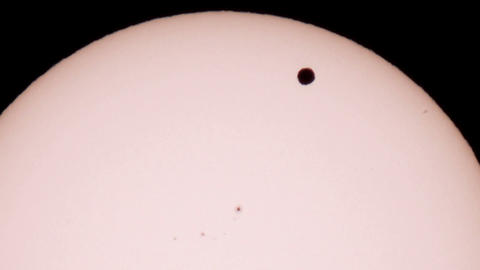 Passage of Venus across the disk of the Sun 06.06. Footage