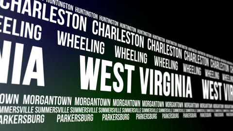 West Virginia State and Major Cities Scrolling Ban CG動画