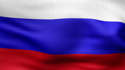 Russian flag HD Animation