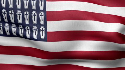 USA 2 flag HD Animation