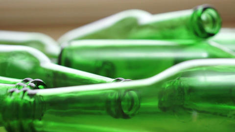 Bottles Green Recycling Laying Down Zoom Live Action