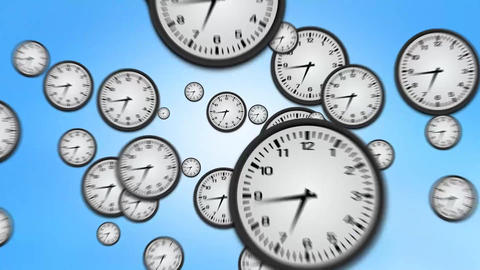 Clock Zoom Out Of Screen stock footage