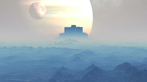 Castle Aliens stock footage