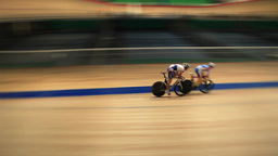 Pursuit Cycling Track stock footage