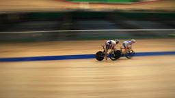Pursuit cycling track Live Action