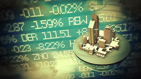 Urban World At Stock Market Background stock footage