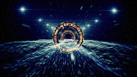 Warp Tunnel 01 d 2 CG動画素材