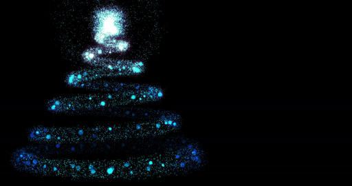Christmas Sparks Left 4 K stock footage