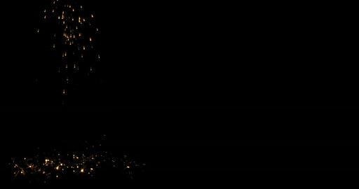 Falling Sparks on black 4 K Footage
