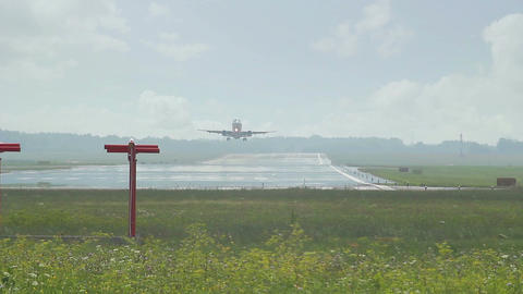 Small commercial airliner taking off Footage
