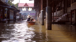 Floating Market stock footage