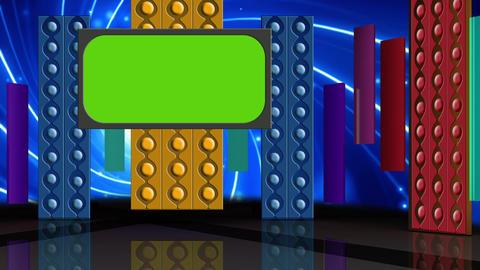 Entertainment TV Studio Set 08 Virtual Green Scree Footage