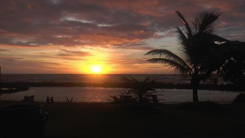 Beautiful Sunrise At Beach On Kauai Island ,hawaii stock footage