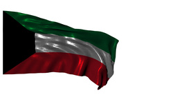 State Of Kuwait Looping Flag stock footage