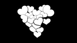 Hearts Heart BnW Footage
