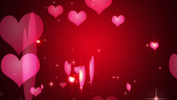 Hearts Particles Footage