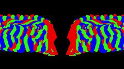RGB Dancers1 stock footage