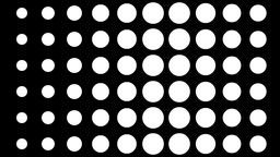 White Circles On Black Background stock footage