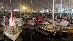 4k Port Barcelona stock footage